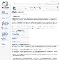 Digital Curation?