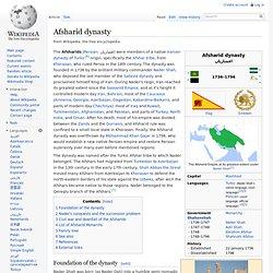 Afsharid dynasty