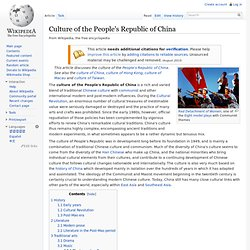 Culture of the People's Republic of China