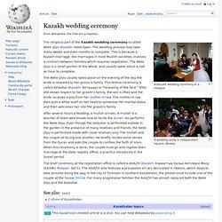 Kazakh wedding ceremony