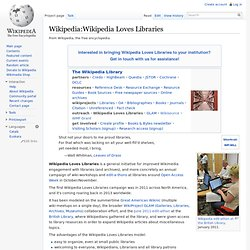 Wikipedia Loves Libraries