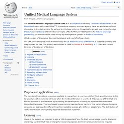 Unified Medical Language System