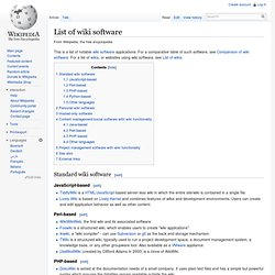 List of wiki software