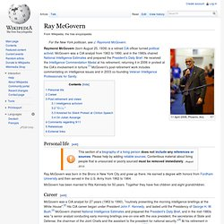 Ray McGovern, wikipedia