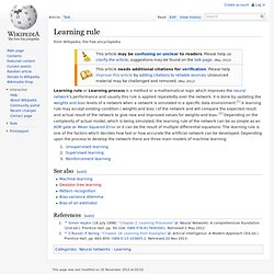 Learning rule