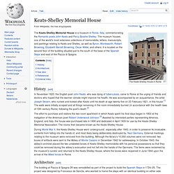 Keats-Shelley Memorial House