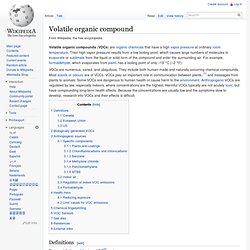 Volatile organic compound