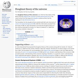 Doughnut theory of the universe