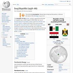 Iraqi Republic (1958–68)
