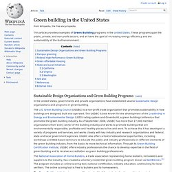 Green building in the United States