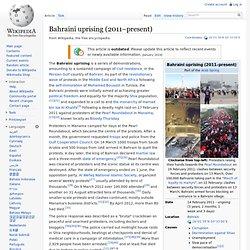 Bahraini uprising (2011–present)