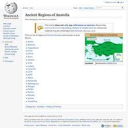 Ancient Regions of Anatolia