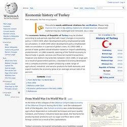 Economic history of Turkey