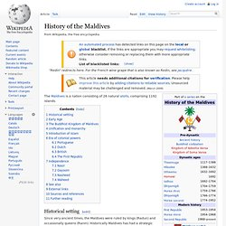 History of the Maldives