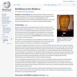 Buddhism in the Maldives