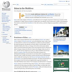 Islam in the Maldives