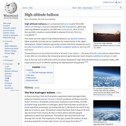 High-altitude balloon