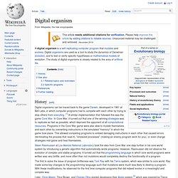 Digital organism