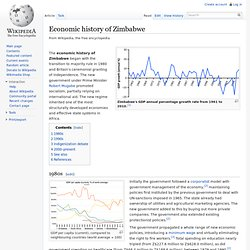 Economic history of Zimbabwe
