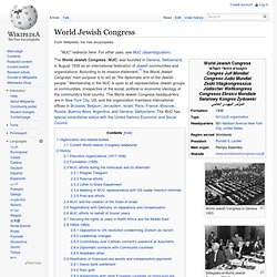 1936-World Jewish Congress
