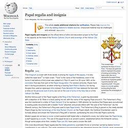 Papal regalia and insignia