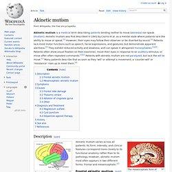 Akinetic mutism