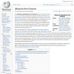 Altamont Free Concert