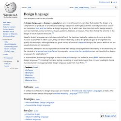Design language
