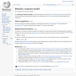Stimulus–response model