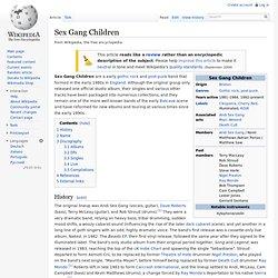 Sex Gang Children