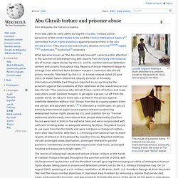 Abu Ghraib torture and prisoner abuse