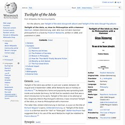 Twilight of the Idols, wikipedia