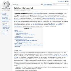 Building block model