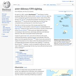 2007 Alderney UFO sighting