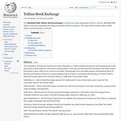 Tallinn Stock Exchange