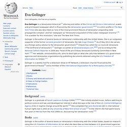 Eva Golinger, wikipedia