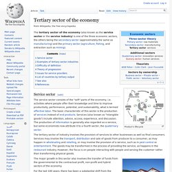 Tertiary sector of the economy