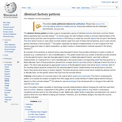 Abstract factory pattern