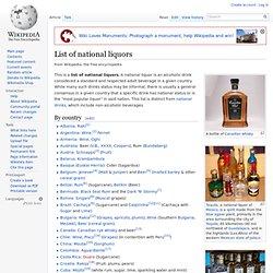 List of national liquors