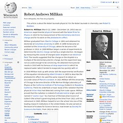 Robert Andrews Millikan
