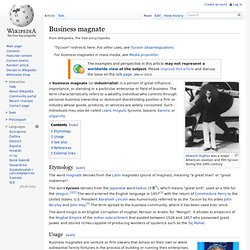 Define magnate