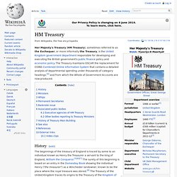 HM Treasury In english