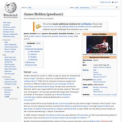 James Holden (producer)