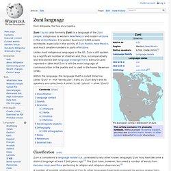 Zuni language