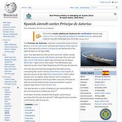 Spanish aircraft carrier Príncipe de Asturias
