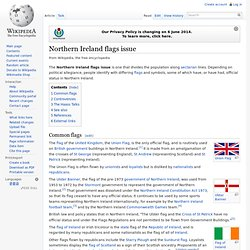 Northern Ireland flags issue