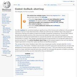 Control–feedback–abort loop