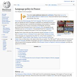 Language policy in France