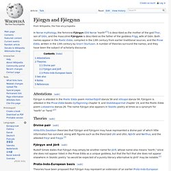 Fjörgyn and Fjörgynn