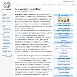 South African criminal law